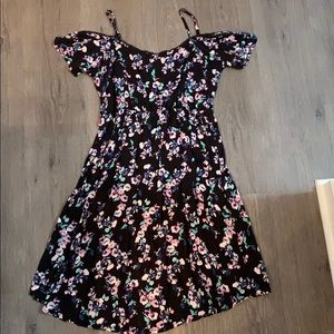 Maternity floral black dress